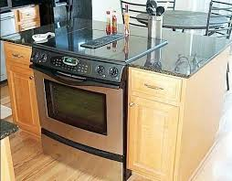 kitchen islands with stoves kitchen islands with slide in cooktop ovens