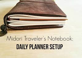 Texas travelers notebook images Using the midori traveler 39 s notebook as a daily planner jpg