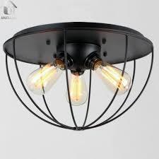 industrial flush mount light black vintage metal shade industrial flush mount light with 3 lights