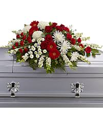 casket spray strength and wisdom casket spray sympathy arrangement teleflora