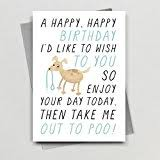 funny happy birthday card from the dog for the owner lover amazon