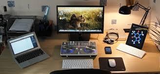 Desk Setup Mac Setups Chemistry Students Desk