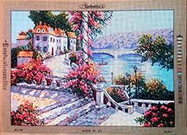 mediterranean splendor large needlepoint canvas from