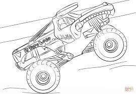 el toro loco monster truck cartoon coloring page cartoon