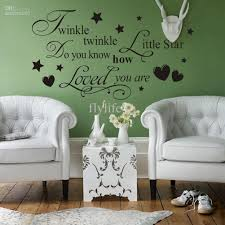 Bedroom Wall Decor Sayings Twinkle Twinkle Little Star Vinyl Wall Lettering Stickers Quotes