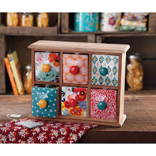 the pioneer woman flea market 6 drawer spice tea box walmart com