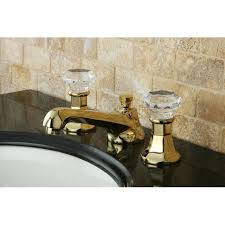 crystal handle polished brass widespread bathroom faucet free