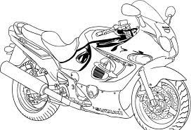 free printable motorcycle coloring pages kids colouring pages