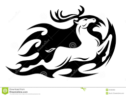 tribal stag tattoo tribal deer stock photos image 8837663