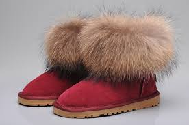 ugg sale canada ugg fox fur mini boots 5854 wine uggyi00000034 wine ca