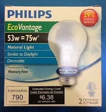 natural light light bulbs philips ecovantage natural light bulbs 2 pack 53a19 53w 75w