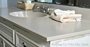 Painting Bathroom Countertops How To Repaint Bathroom Countertops Using Rustoleum Paint