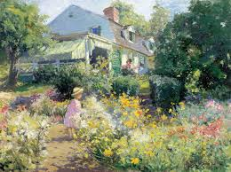 Art In The Garden Impressionism American Artists On Canvas New York Botanical
