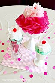 tissue paper ice cream sundae party decorations dimples and tangles