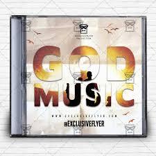 god music u2013 premium mixtape album cd cover template