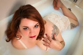 Bathtub Pinup Milk Bath Pin Up Tattooed Model Bootleg Betty Photography Pinup