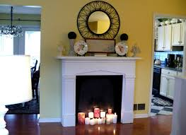 faux fireplace with candles gaodihome intended for fake fireplace