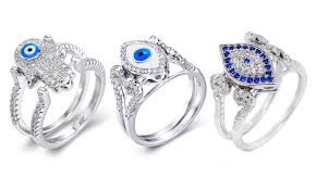 eye rings jewelry images Evil eye reversible flip rings groupon goods jpg