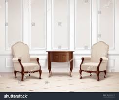 classic interior design molding on wall stock vector 656680156