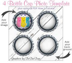 4 bottle cap photo template mockup and optional how to ebook pdf