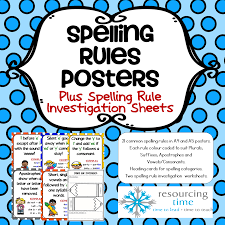 spelling rules posters the alphabet tree