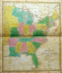 A Picture Of The Map Of The United States by 1820 U0027s Pennsylvania Maps