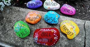 Garden Crafts To Make - rock garden markers paint rocks to make markers for your plants