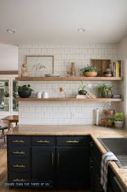 open shelving cabinets kitchen glamorous kitchen reveal with dark cabinets and open