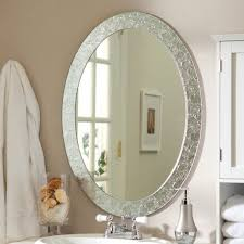 white framed oval bathroom mirror my web value mirrors for