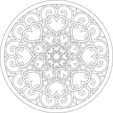 abstract hearts coloring pages adults coloringstar
