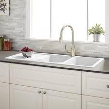 modern kitchen sink with drain boards and chrome faucet best kitchen sinks with drainboard modern kitchen 2017