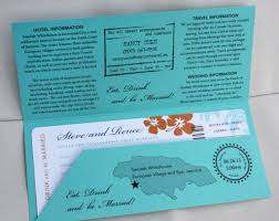 wedding invitations jamaica turquoise orange and navy hibiscus palm tree and sea shell
