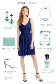 dress for the wedding navy blue and mint green wedding style blue bridesmaid dresses
