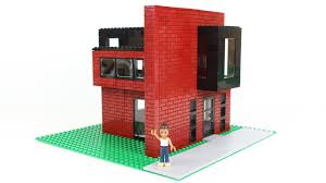 interior illusions home modern lego brick house moc idolza