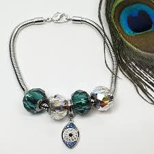 evil eye charm bracelet images Swarovski crystal charm evil eye bracelete jpg