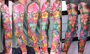 mike u0027s tropical sleeve by ray hunt diablo tattoo kent uk
