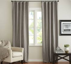 pottery barn emery linen cotton drape available in blue dawn