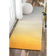 Yellow Runner Rug Ombre Runner Rug With Ombre Runner Rug Nuloom