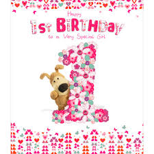 1st birthday boofle happy 1st birthday greeting card cards kates