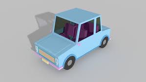 cartoon car png cartoon car 3d model rigged cgtrader