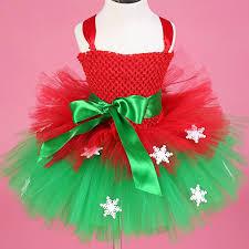 baby kids girls christmas dress snowflake tulle tutu dress