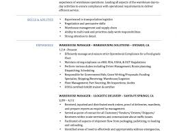 Warehouse Logistics Resume Sample by Projects Inspiration Warehouse Manager Resume 15 Warehouse Manager