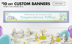 customized baby shower banners home design inspirations