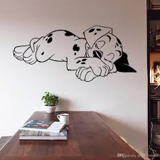 sleeping dog wall art mural decor living room sleep puppy material pvc size pack one piece pattern sleeping dog usage room decoration