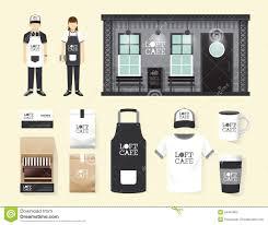 vector restaurant cafe set shop front design flyer menu stock