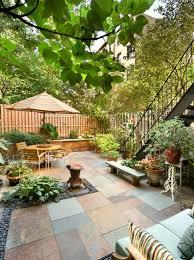 courtyard ideas beauti small garden with furniture garden design