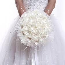 fleur artificielle mariage qianle bouquets de mariée avec perles pour mariage fleur