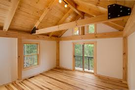 post beam tour by timberhaven log and timber homes bedroom of home