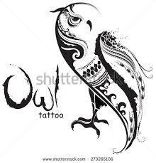 vector illustration wild bird owl tribal stock vector 273265106