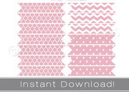 Dessert Flags Printable Straw Flags Instant Download Pink Party Decor